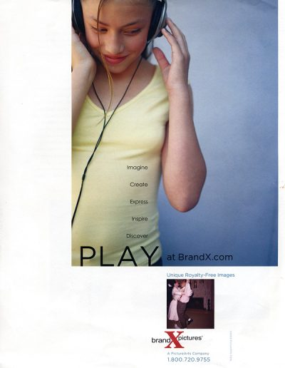 Ad for Brand-X in Communication Arts Magazine